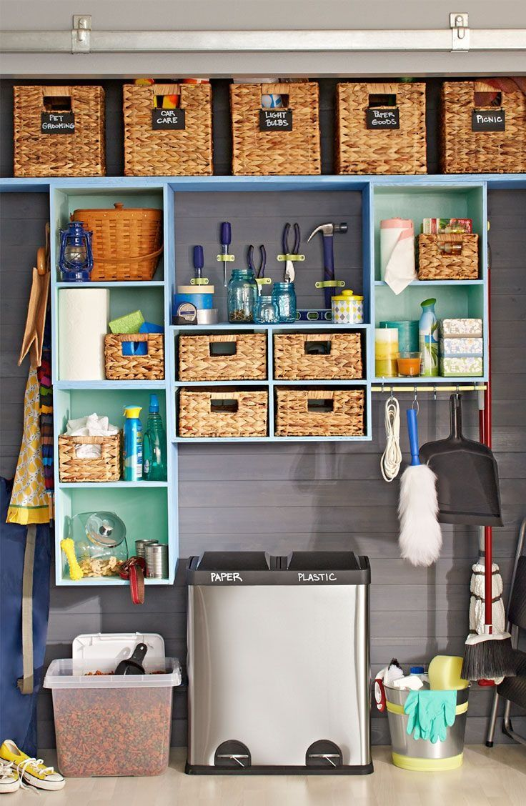 Turn Your Utility Closet Into A Catchall Space That Neatly Stores Your Go To Essentials Utility Storage Closet Utility Closet Small Closet Space