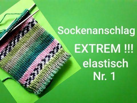 Photo of super elastischer Stichanschlag für Socken !!!