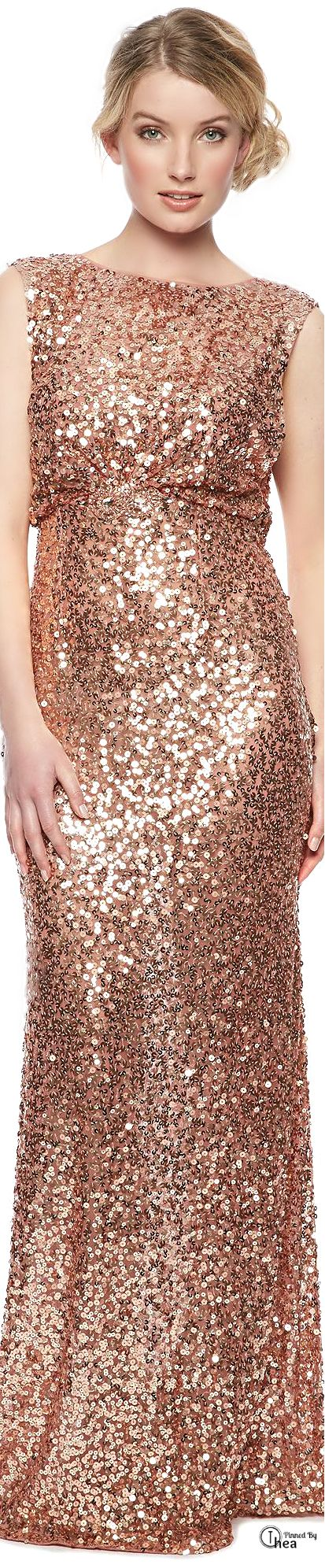 Sequined blush colored gown. | BEAUTIFUL CLOTHES, any style or event ...