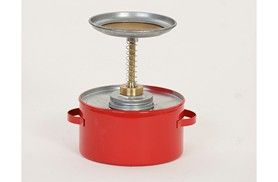 Safety Plunger Can 1 Qt. Metal - Red