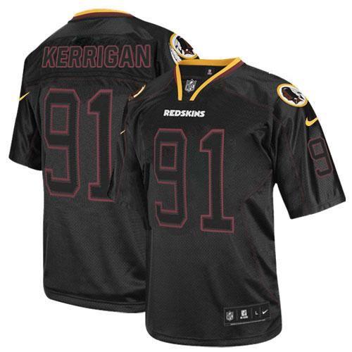 5f27aebe6 NFL Mens Game Nike Washington Redskins  91 Ryan Kerrigan Lights Out Black  Jersey 79.99