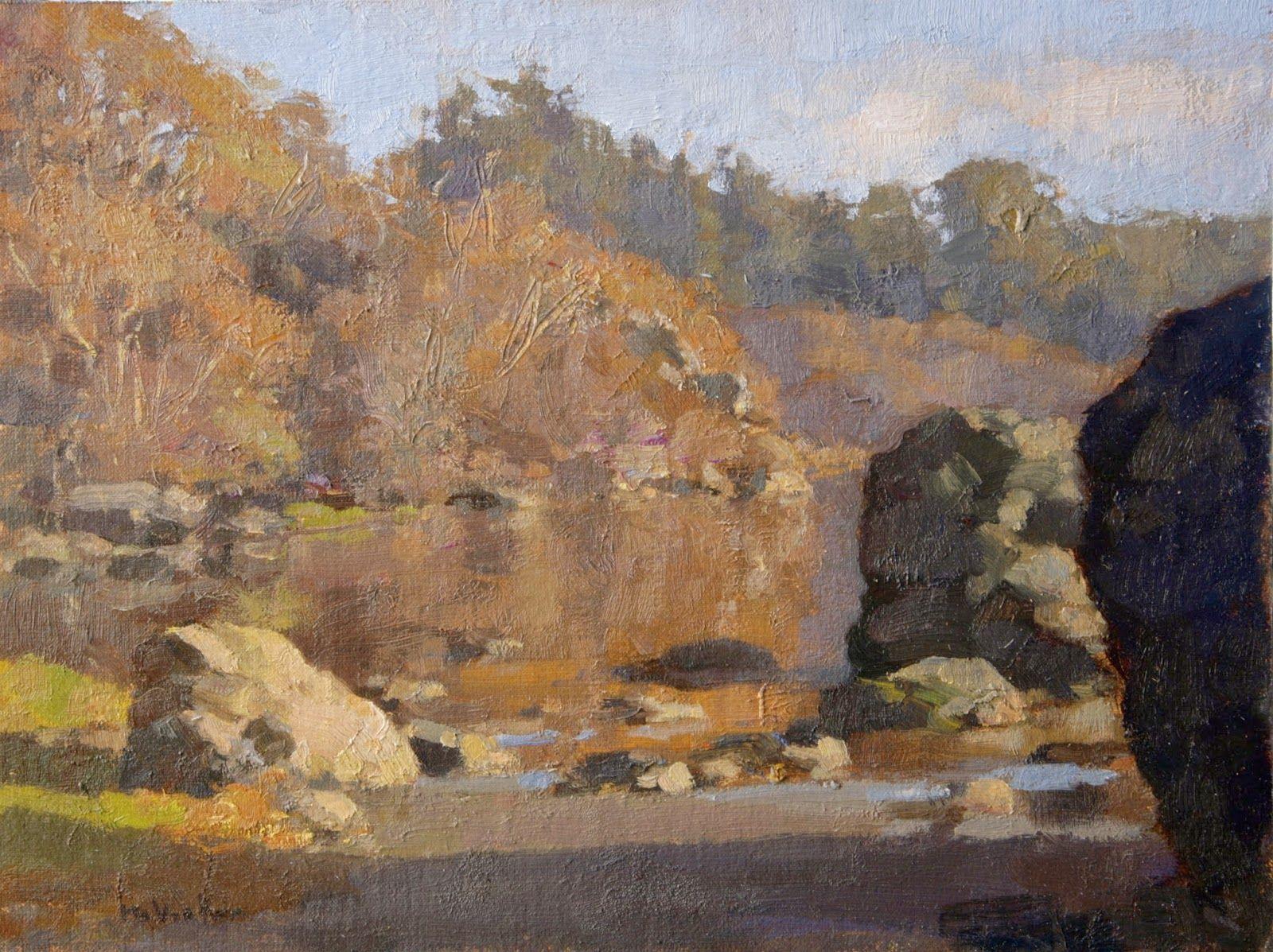 Jim McVicker Paintings: 'Plein Air Paintings, December ...