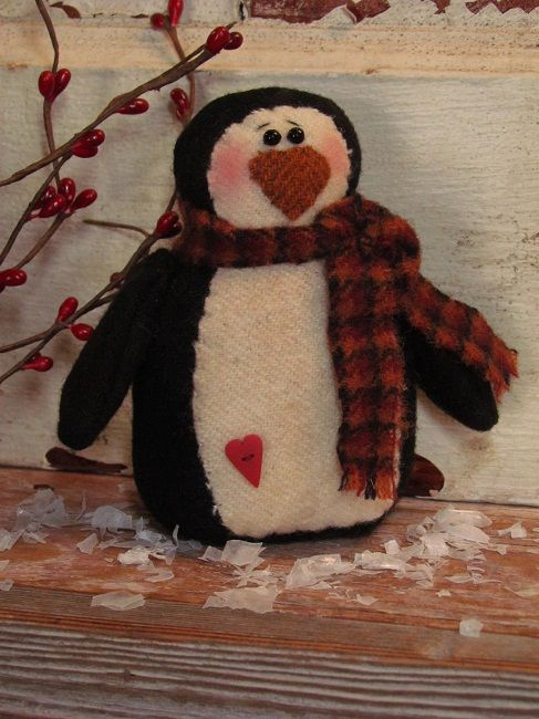 penguin easy cloth doll pattern