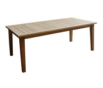 Mesa de madera de teca LORRIE - Leroy Merlin | Muebles de exterior ...
