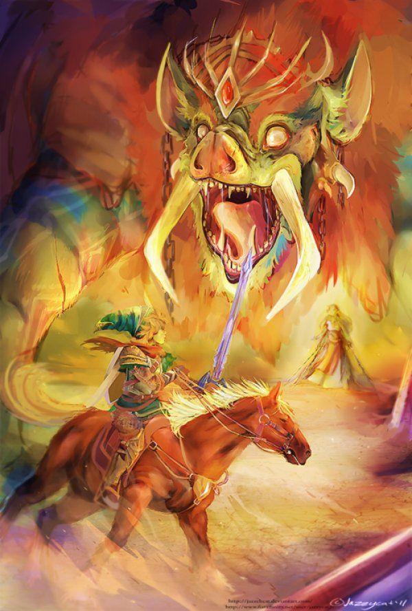 Link Vs Ganon Painting Zelda 3