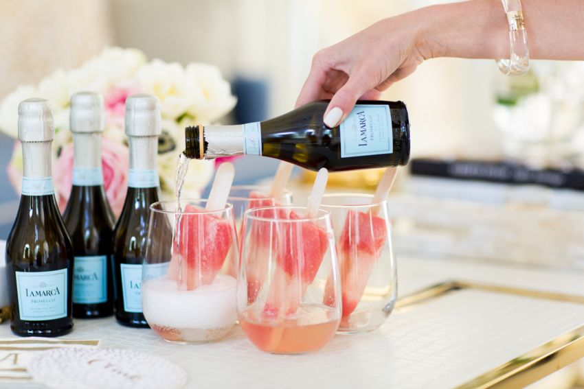 Prosecco Popsicles #champagnepopsicles