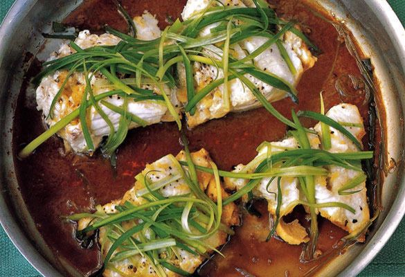 Gojee - Steamed Cod with Ginger and Scallions by Leite's Culinaria - use brown rice vinegar and bragg's amino acids for the soy sauce