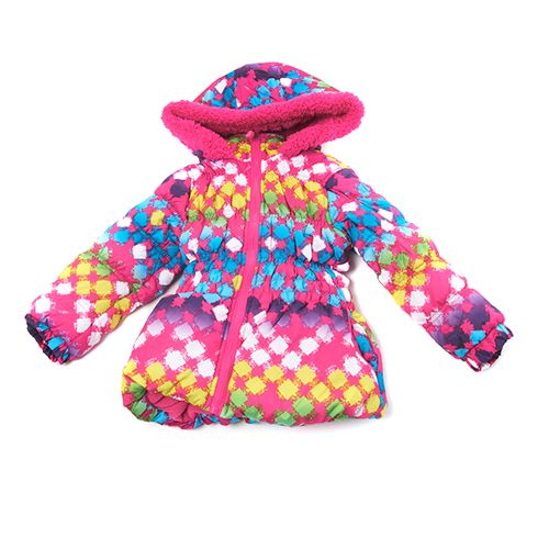 Toddler Girl Big Chill Print Puffer Jacket