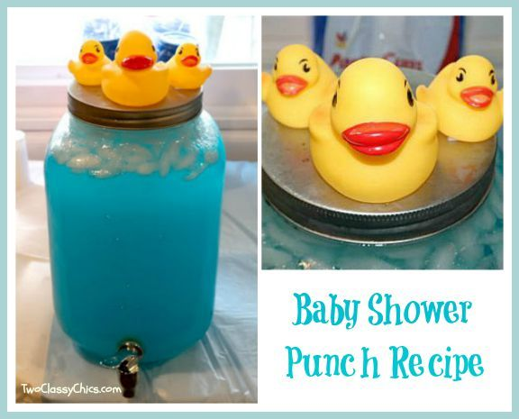 Baby Shower Blue Punch Recipe Maternity And Baby Guide Pinterest