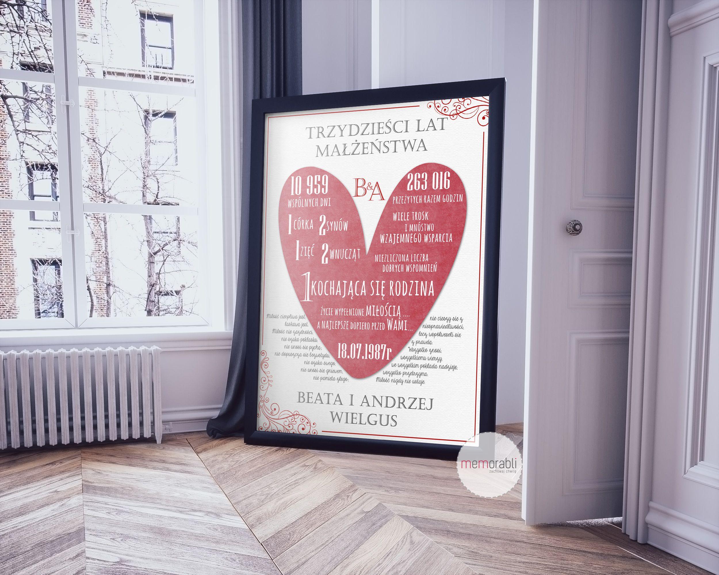 Pin On Plakaty Love Slub Rocznica