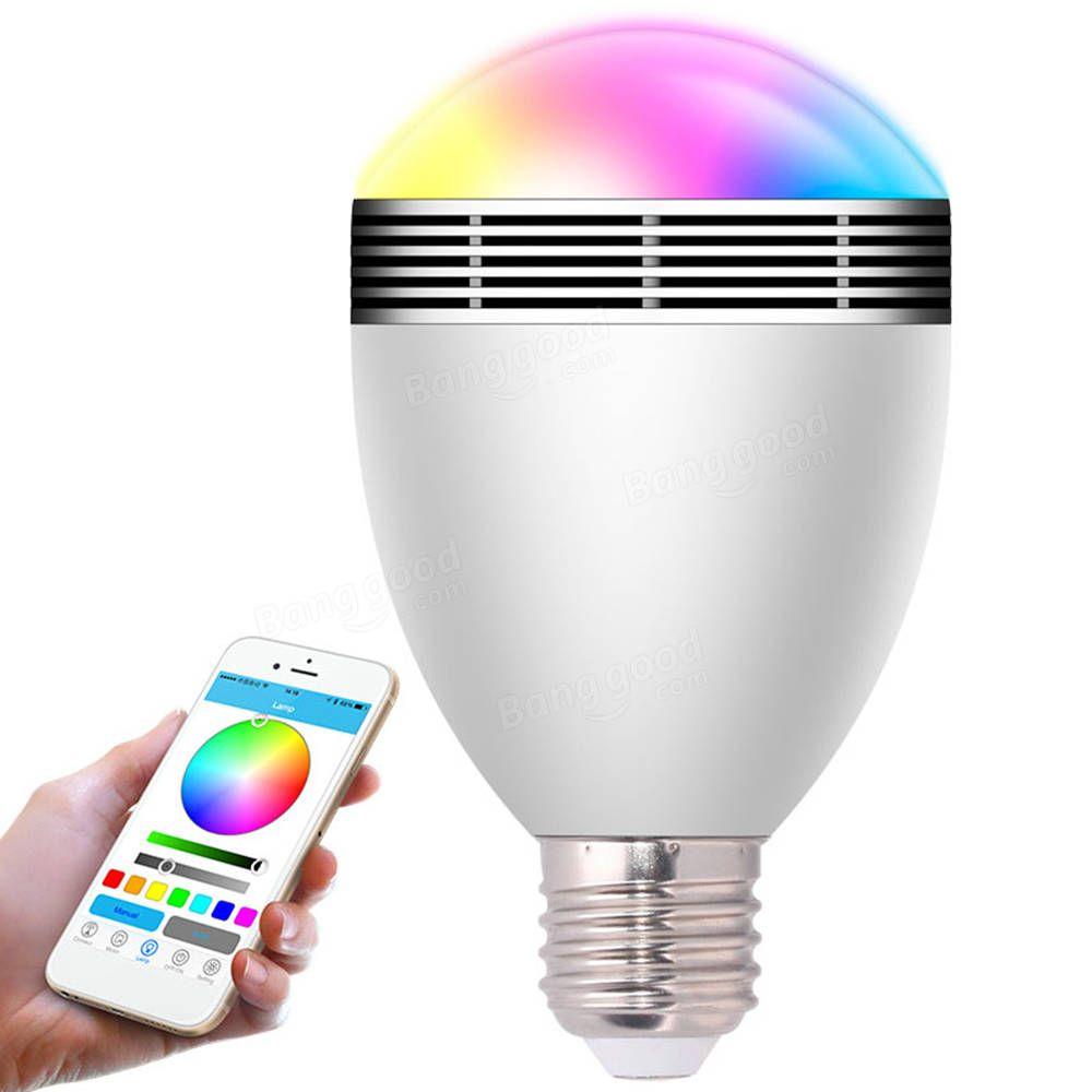 Ac100240v 9w e27 wireless bluetooth speaker led smart