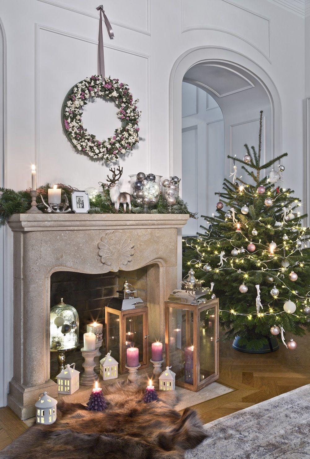 Raum mit lichtern so funktioniert der look cozy country christmas viele kerzen und