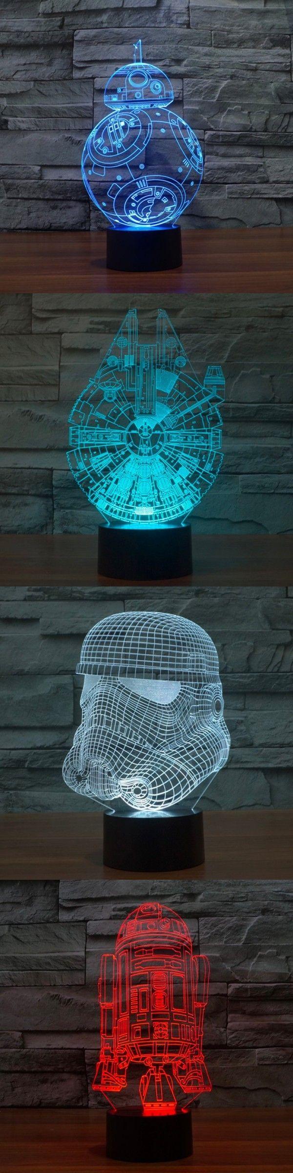3d Illusion Led Desk Table Lamps Ultimate Star Wars Star Wars Room Star Wars Decor