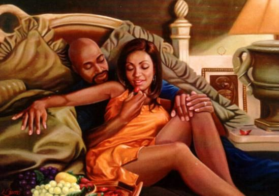 Black african love art