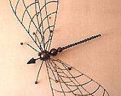 Dragonfly - Giant insect sculpture in steel and found objects
