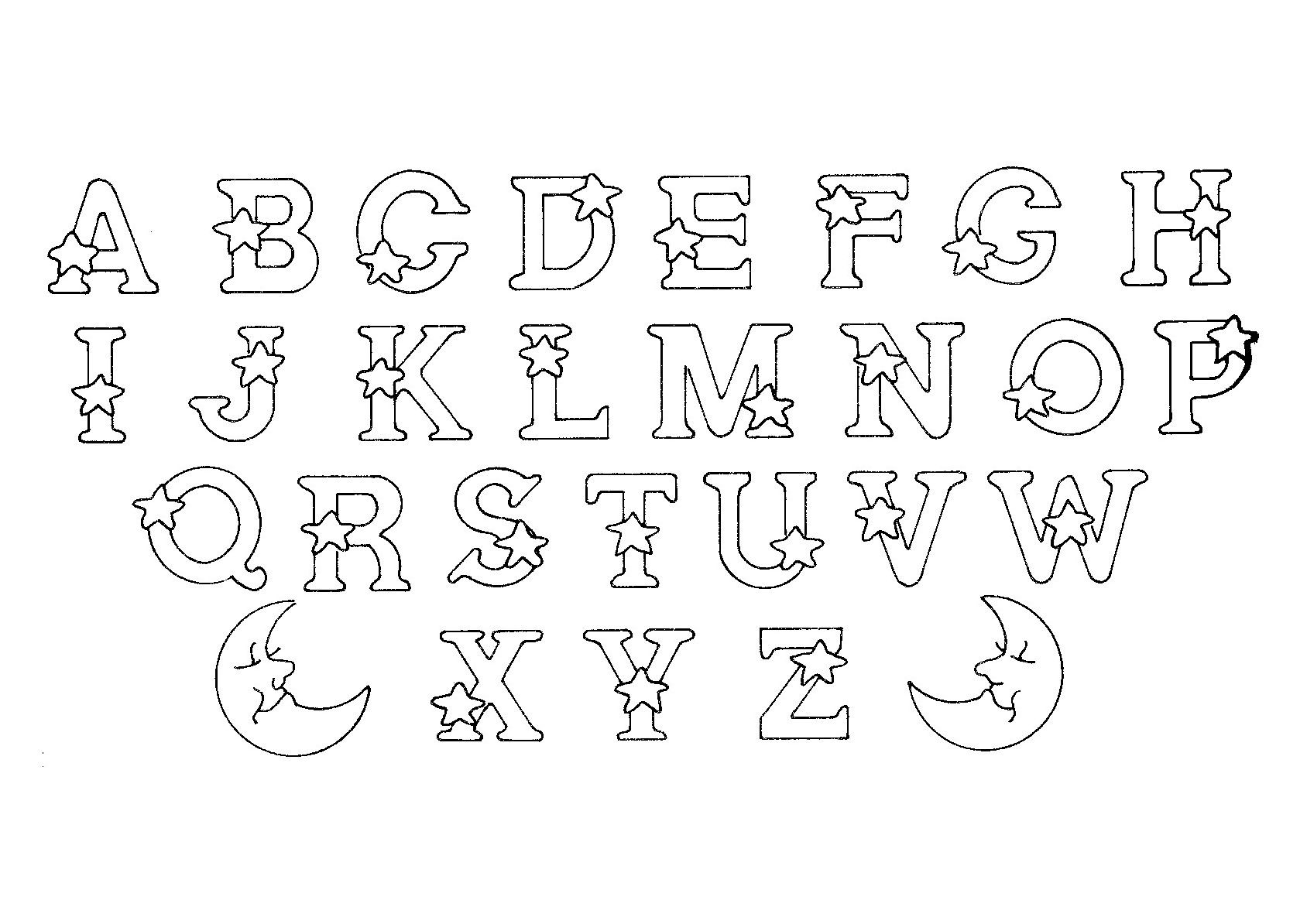Alphabet to print & color, From the gallery : Kids Alphabet ...