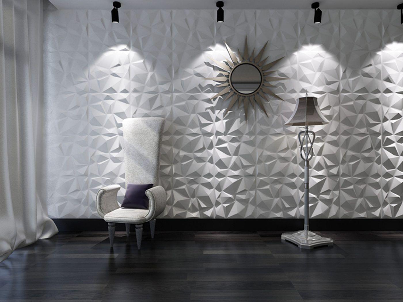 3D-wandpanelen Diamond zijn een nieuwe trend in muurbekleding ...