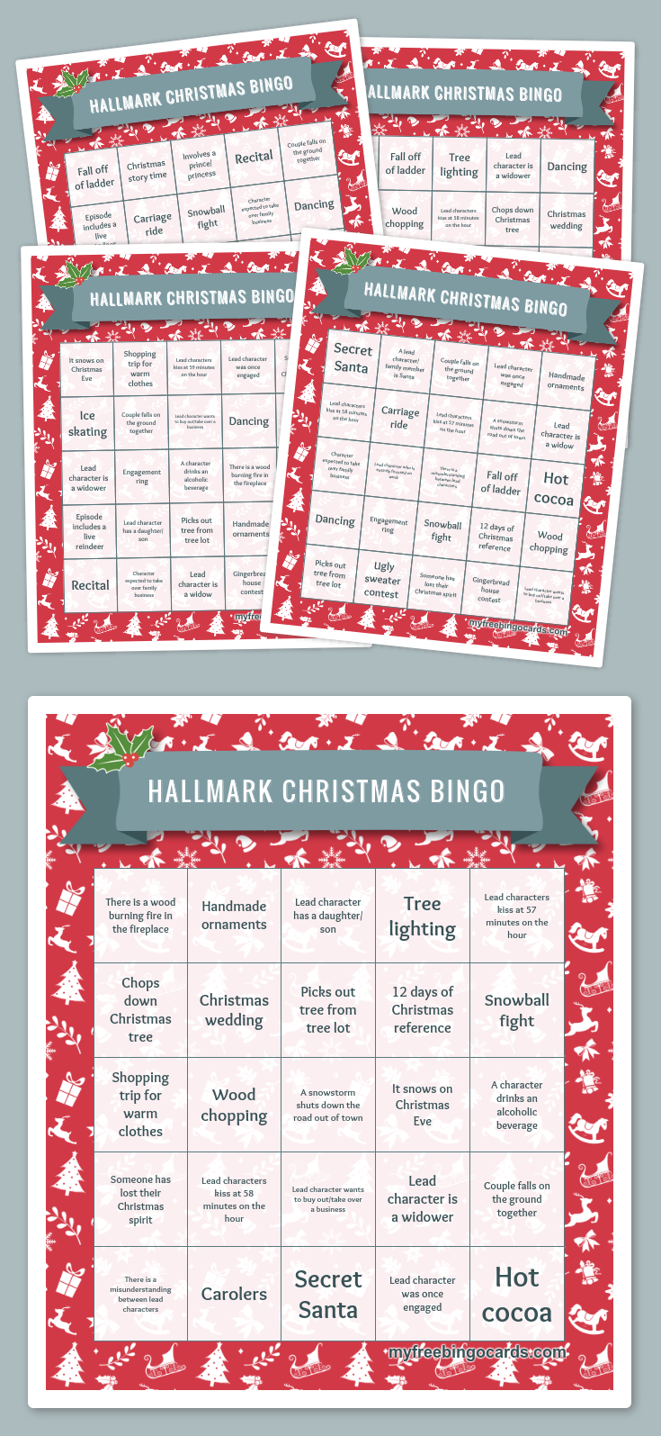 Hallmark Christmas Tablets 2020 Play Hallmark Christmas Bingo with your friends for free on your