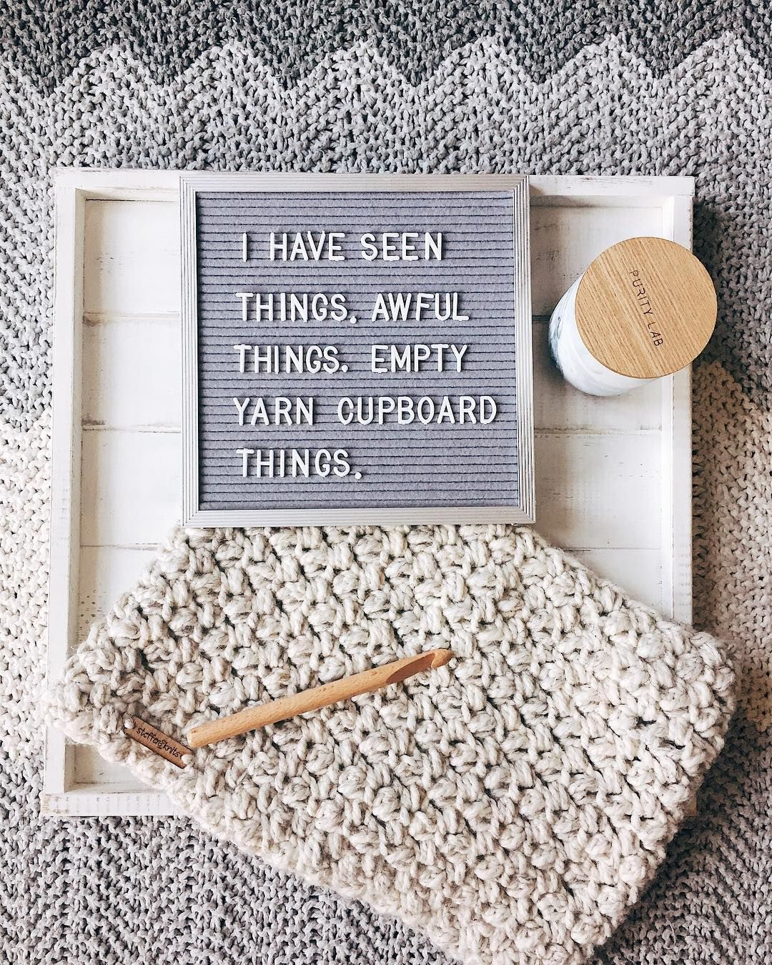 529f8520fb9 Ps-the cowl pattern is free on ravelry!  texture  letterboard  adzewoodcowl   knit  knitting  crochet  crocheting  liveauthentic  maker  christianmaker  ...