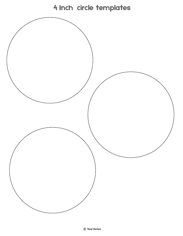 Free printable circle templates large and small stencils.