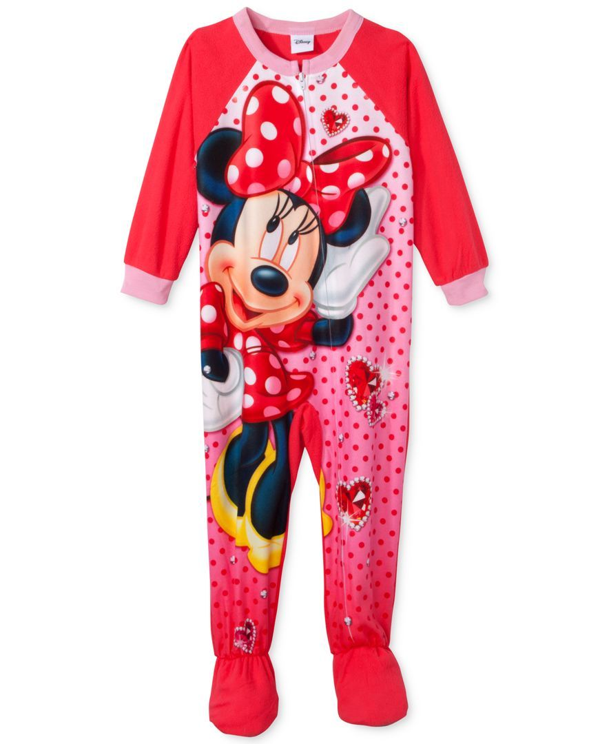 64d46d57d Minnie Mouse Toddler Girls' One-Piece Footed Pajamas   Christmas ...