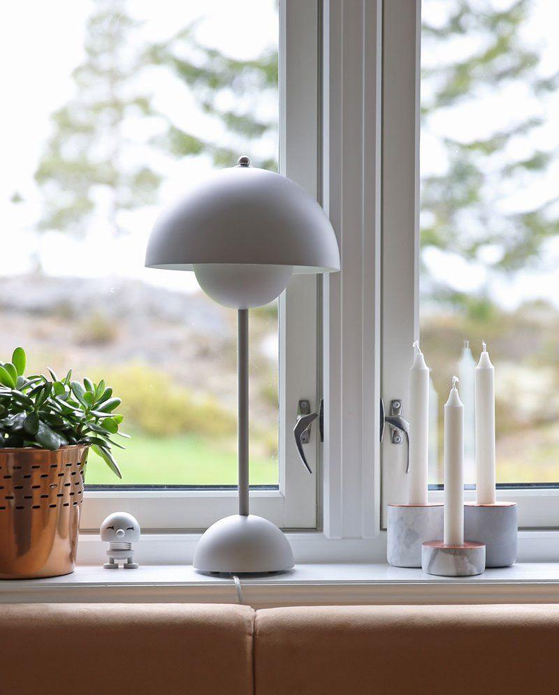 Matt Grey Flowerpot Table Lamp Lampe Flowerpot Lamp Lampentisch