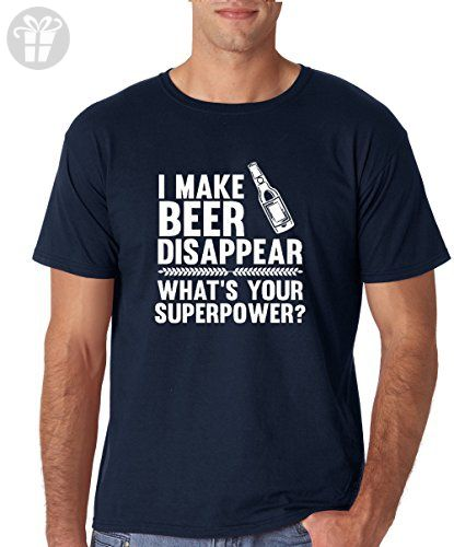 Crazy Bro's Tees I Make Beer Disappear, Whats Your Superpower? - Funny Men's T-Shirt (X-Large, Navy) - Funny shirts (*Amazon Partner-Link)