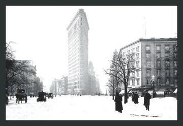 Flatiron Building after Snowstorm 28x42 Giclee on Canvas