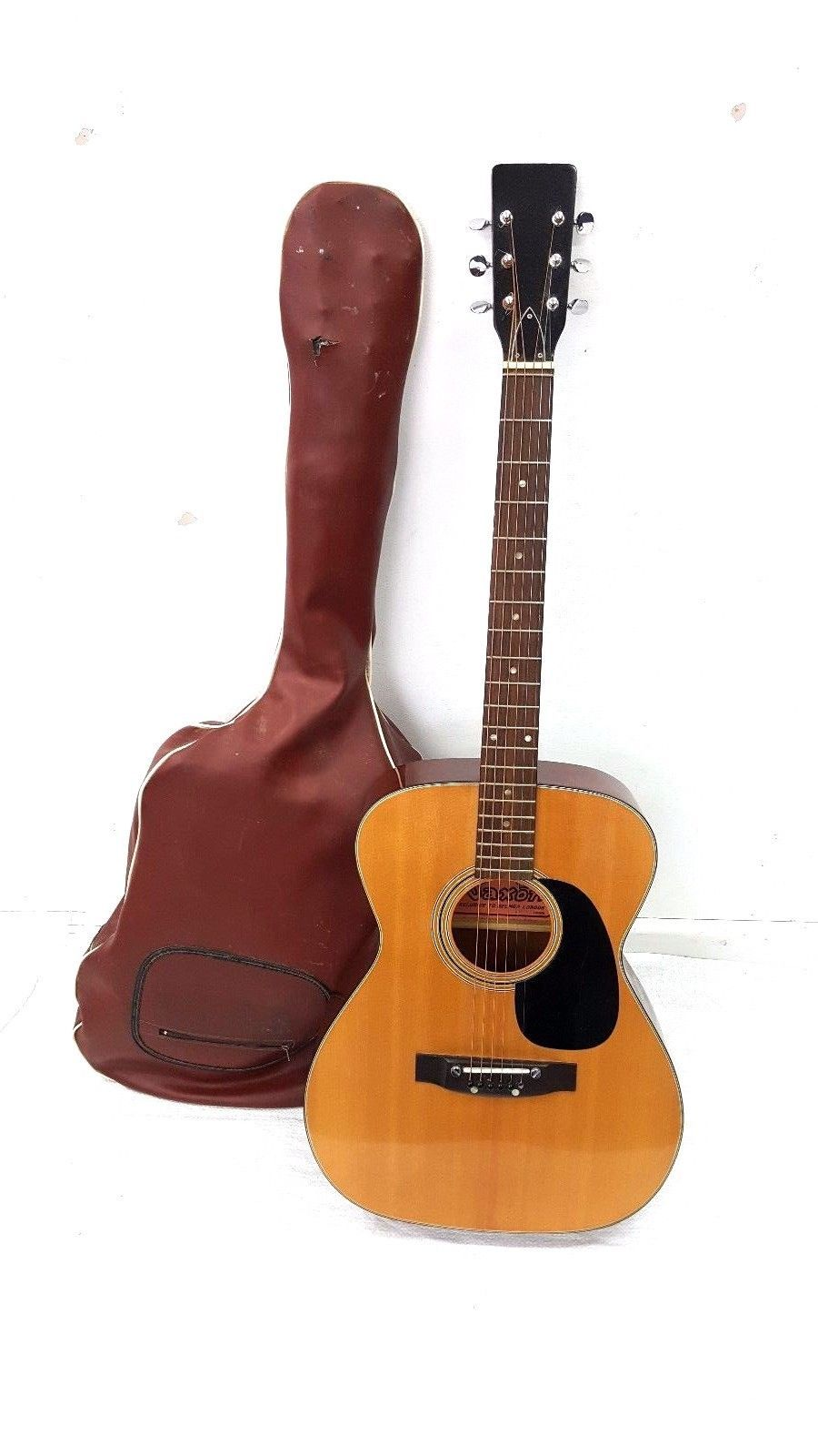 Saxon Folk Model No 812 Acoustic Guitar And Case Zb606 Ebay