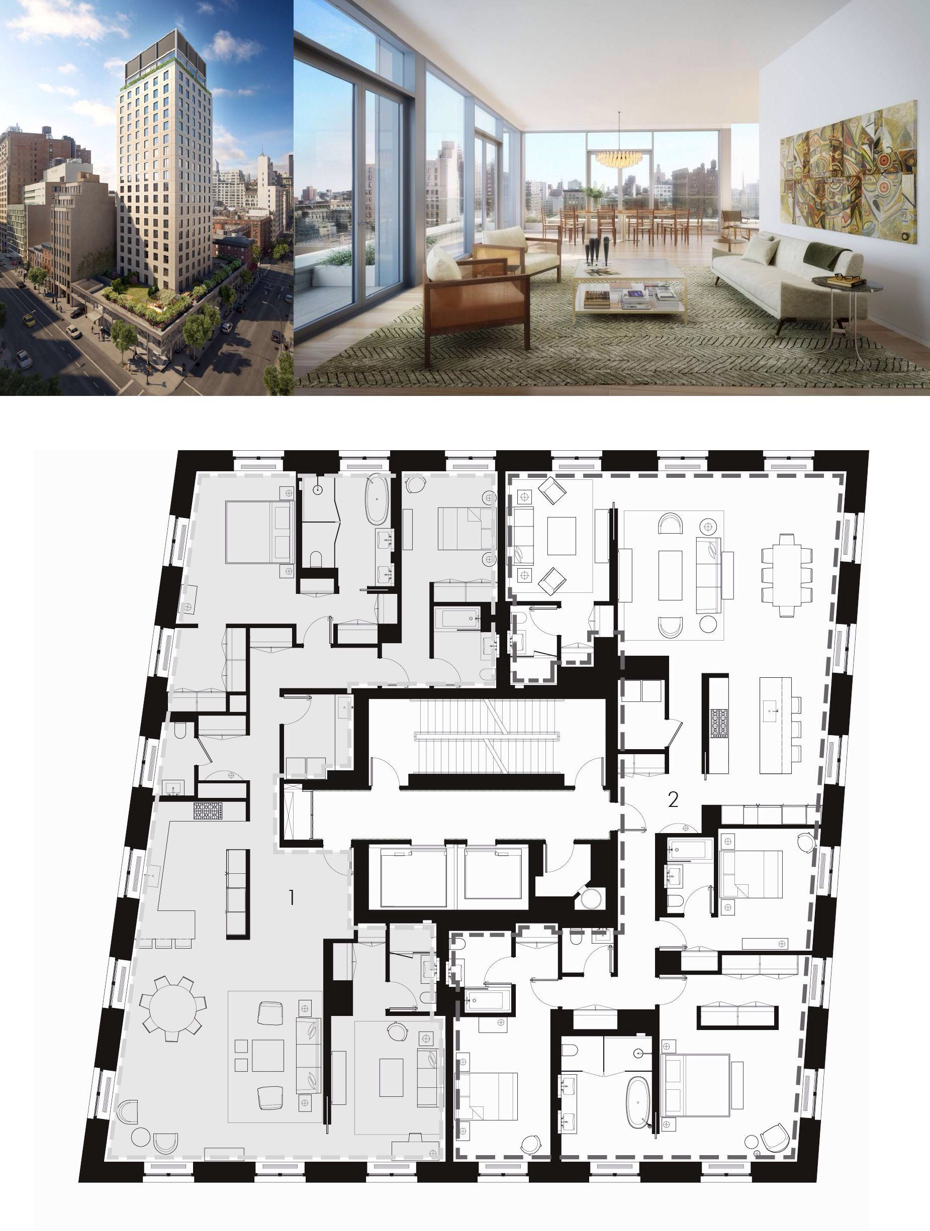 21 East 12th Street Selldorf Architects New York Penthouse Apartment Floor Plan Hotel Plan Home Building Design