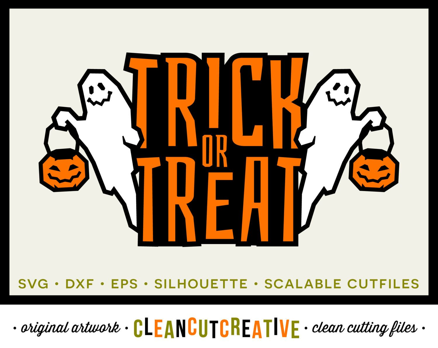 Download Trick Or Treat – Svg, Eps, Dxf, Png Files For Cutting Machines Design