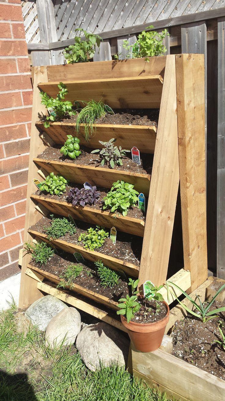 Herb Garden Planted - Garden Diy#diy #garden #herb #planted Vzhled Bylinkové Zahrádky, Projekty Zeleninových Zahrad, Nápady Do Zahrady, Zahradní Design, Nápady Na Zahradní Design