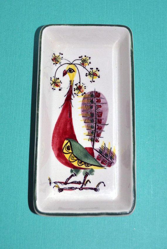 Vintage Royal Copenhagen Dish Birds Danish Mid Century