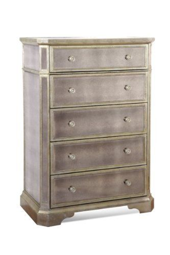 Borghese Tall Mirrored 5 Drawer Chest By Bassett Mirror Http