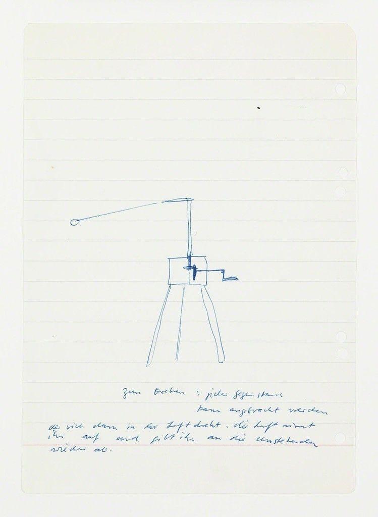 Untitled, Maschine Zum Drehen.... | Sigmar Polke, Untitled, Maschine Zum Drehen.... (circa. late 1960s)