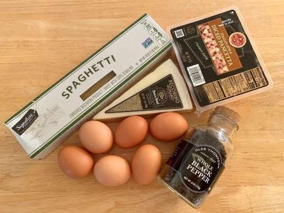 Locatelli's carbonara recipe requires just five ingredients. - Anneta Konstantinides/Insider