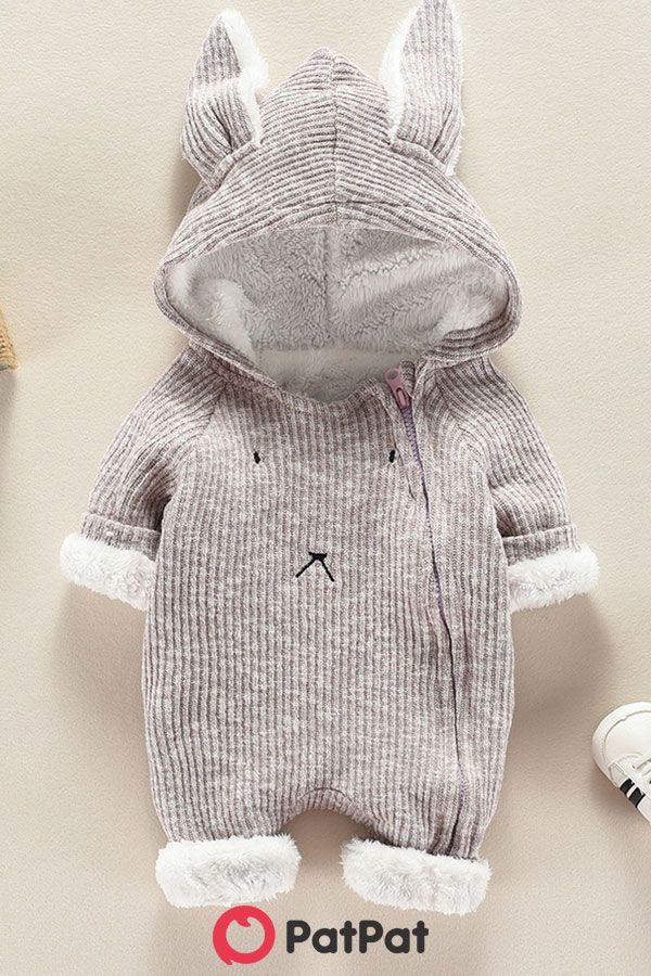 Photo of STYLISH RABBIT MODELLING HOODED JUMPSUIT FOR BABIES