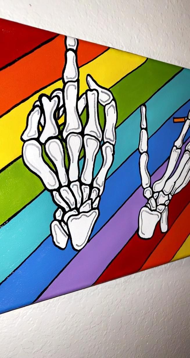 Rainbow 🌈 Skeleton Hands