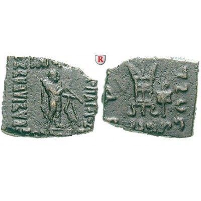 Baktrien und Indien, Königreich Baktrien, Apollodotos II. Philopator, Bronze, ss+: Apollodotos II. Philopator 80-65 v.Chr. Bronze… #coins