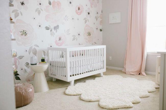Papel pintado floral para harper habitaciones bebe ni a habitacion bebe ni a decoracion Cuarto de bebe nina