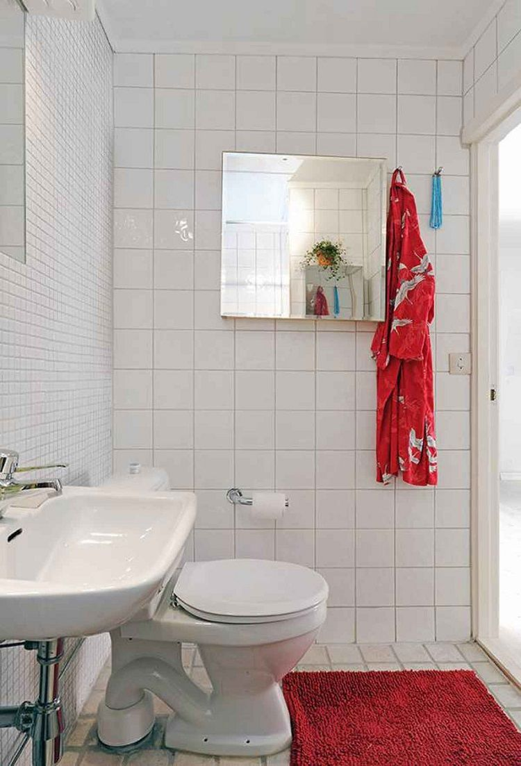 Ba Os Peque Os Color Blanco Interiores Para Ba Os Pinterest  ~ Baños Pequeños En Blanco Y Gris