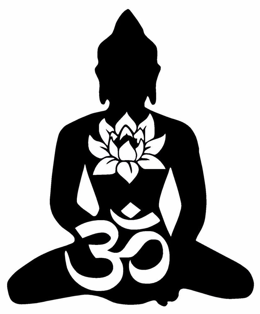 Buddha Vinyl Decal Sticker Window Wall Bumper Lotus Om Symbol God
