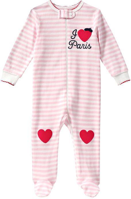 Joe Fresh Baby Girls' Stripe Sleeper - White