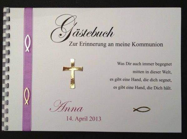 Gstebuch Kommunion  Konfirmation  Taufe Mdchen von