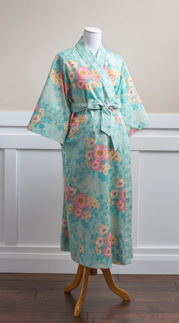 Maternity Robe. Mid calf Gown. Long Maternity. XS - Plus size. Pre ...