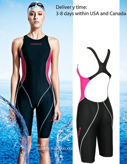 209dad5a55189 Details about Yingfa 953-1 full Knee Swimsuit one piece swimsuit for ...