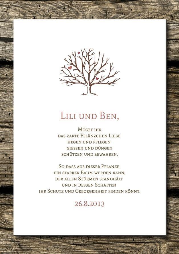 Baum gedicht fur hochzeit