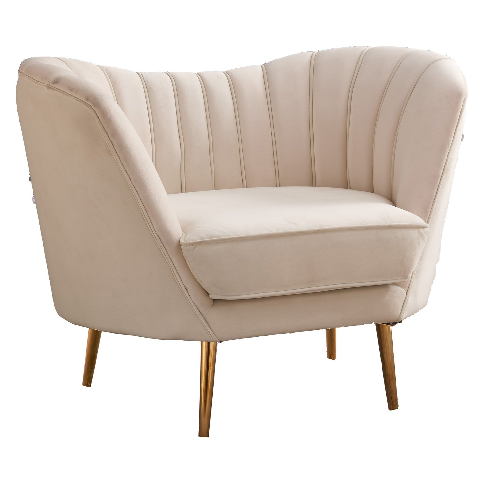 Meridian Furniture Inc Margo Velvet Chair Cream In 2019