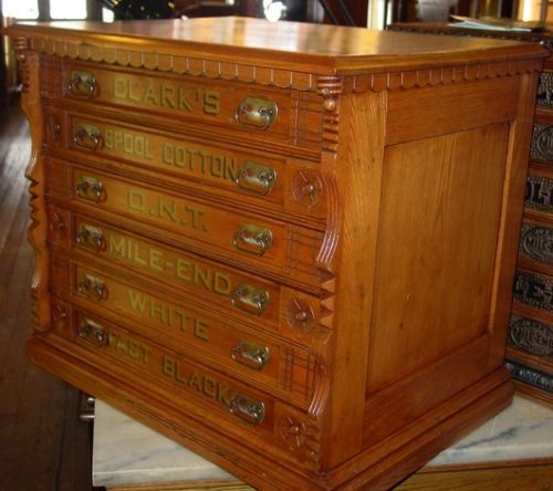 Details About Clarks 6 Drawer Spool Cabinet New Glass Name