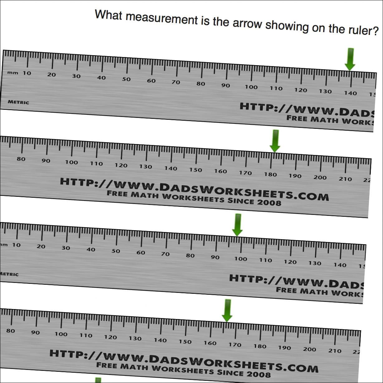 Measurement Worksheets Centimeters On Ruler